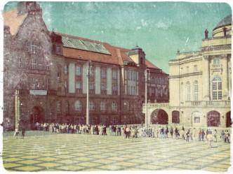 Schlange stehen hat in Chemnitz Tradition