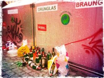 Die Glasflasche verschwindet dank Verbot aus Chemnitz